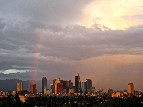Rainbow over Los Angeles