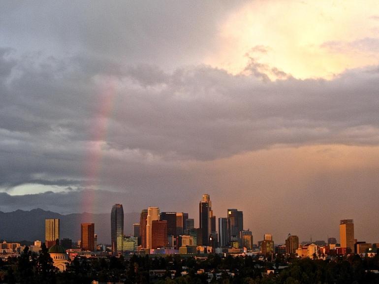 Rainbow over Los Angeles